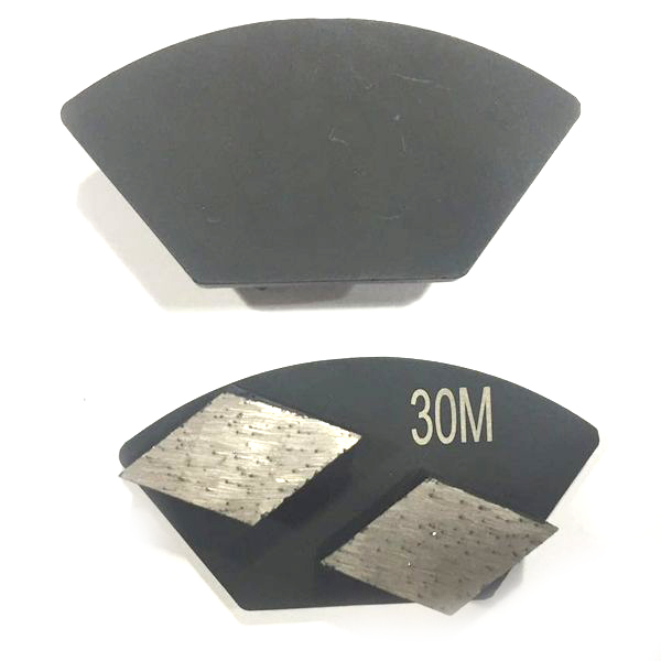 Double Rhombus Segments Diamond Grinding Shoe Concrete Polishing Disc