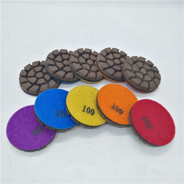 Diamond Traditional Cooper Resin concrete puck with Velcro back