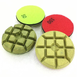 3 Inch Terrazzo Resin Polishing Pad With Velcro Back